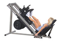 Máquina piernas y glúteos BODYSOLID CLUB LINE Leg Press y Hack Squat 45º GLPH 2100