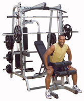 Smith Machine y Squat BODYSOLID MACHINE SMITH SERIE 7 FULL OPTIONS