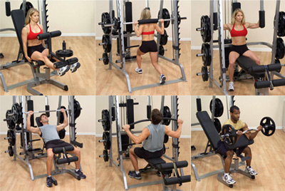 BODYSOLID MACHINE SMITH SERIE 7 FULL OPTIONS