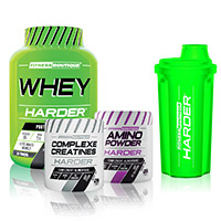 Whey proteína FITNESSBOUTIQUE HARDER PACK HARDER BODY TIME