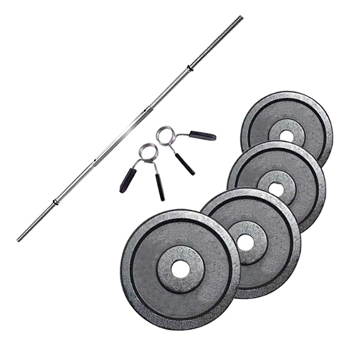 FITNESS DOCTOR PACK BARRA 1,83 M + 40 KG EN DISCOS 28 MM