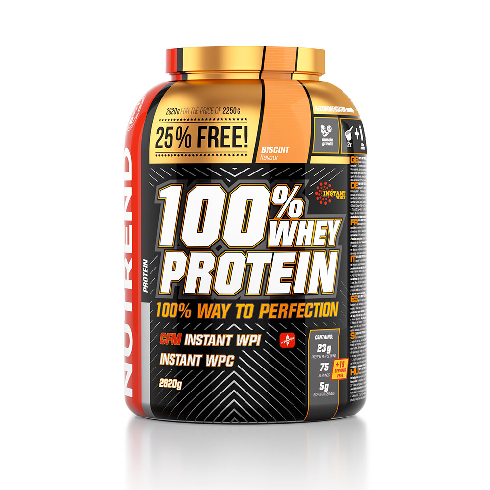 NUTREND 100% WHEY PROTEIN 25% FREE